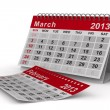 2013 year calendar. March. Isolated 3D image - Stock Photo