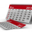 2013 year calendar. May. Isolated 3D image — Foto Stock