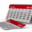2013 year calendar. June. Isolated 3D image — Stock Photo