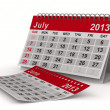 2013 year calendar. July. Isolated 3D image - Stock Photo