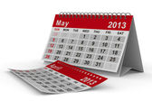 Jahreskalender 2013. mai. isolierte 3d-bild — Stockfoto