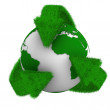 Recycling arrows and globe. Isolated 3d image — Stock Photo #7965072