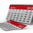 2012 year calendar. June. Isolated 3D image — Stock Photo #8124580