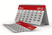 Calendario anno 2012. maggio. immagine 3d isolato — Foto Stock