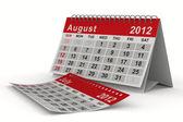 Calendrier de l'année 2012. auguste. image 3d isolé — Photo