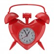 Photo: Alarm clock on white background. Isolated 3D image