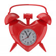 图库照片: Alarm clock on white background. Isolated 3D image