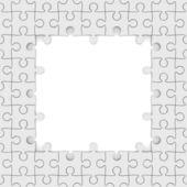 Seamless texture white puzzle. 3D image — Stock Photo