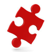 Puzzle on white background. Isolated 3D image — Stock Photo
