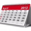 Royalty-Free Stock Photo: 2013 year calendar. April. Isolated 3D image