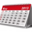 2013 year calendar. May. Isolated 3D image — Stock Photo