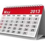 Calendario anno 2013. maggio. immagine 3d isolato — Foto Stock