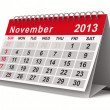 2013 year calendar. November. Isolated 3D image — Stok fotoğraf