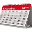 2013 year calendar. November. Isolated 3D image — Stock Photo