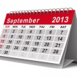 2013 year calendar. September. Isolated 3D image — Stock Photo