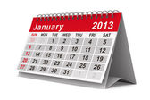 2013 year calendar. January. Isolated 3D image — Stock Photo