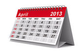 Calendario del año 2013. abril. imagen 3d aislada — Foto de Stock