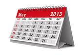 Calendrier de l'année 2013. mai. image 3d isolé — Photo
