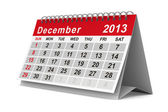 2013 year calendar. December. Isolated 3D image — Stock Photo