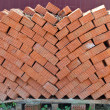 Stack of bricks - Stock Photo