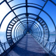 Blue tunnel — Stock Photo
