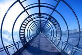 Niebieski tunelu — Zdjęcie stockowe