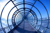 Blauwe tunnel — Stockfoto