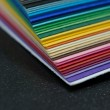 Stack of colored paper - Stock Photo