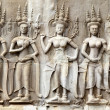 Khmer carving in Angkor - Stock Photo