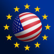 USA - EU — Stock Photo