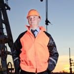 Worker in an oil field. — Stock Photo #9281697