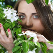 Young woman in the apple garden — Stock Photo #10344710
