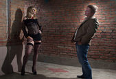Client and prostitute — Stock Photo