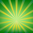 Abstract background illustration with brown and green sun burst — Image vectorielle