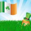 St. Patrick day card — Image vectorielle