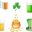 St Patrick's Day - Vector icons — Stock Vector