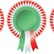 Blank award ribbon rosette - Stock Vector