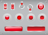 Buttons, toggles, switches — Stock Vector