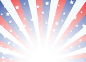 Background with stars and stripes — Vector de stock