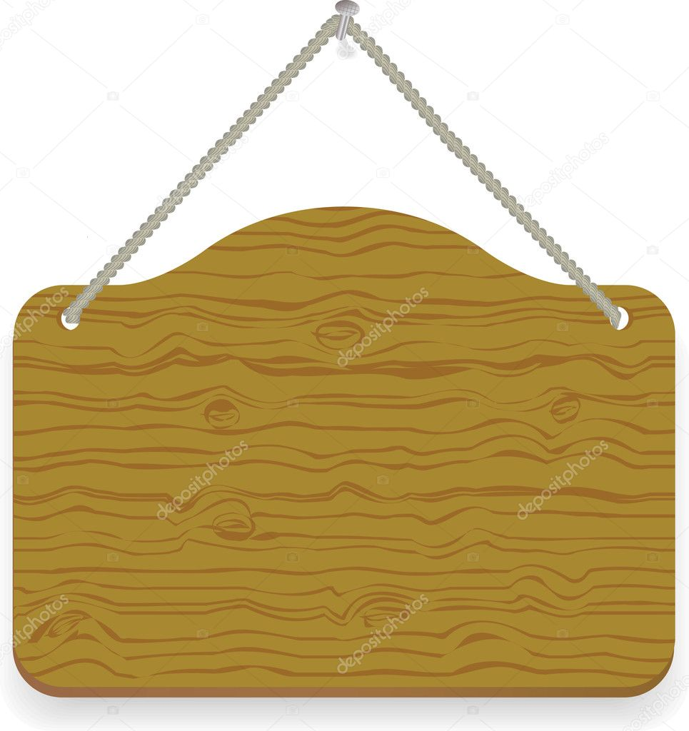 Old wood notice board isolated on white — Stock Vector #9173316
