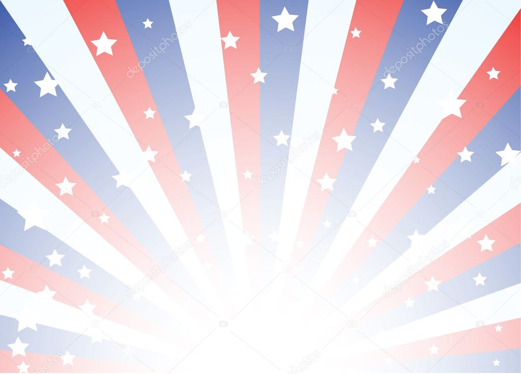Red White Blue Stripes Background Background Featuring Red White And Blue Stripes With Stars Vector by
