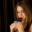 Woman and chocolate — Stock Photo #10228352