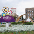 Logo EURO 212 in Kharkov, Ukraine — Stock Photo