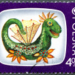 POLAND - 1975: shows Telesfor, the dragon - Stock Photo