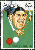 AUSTRALIA - 1981: Walter Lindrum (1898-1960), billiards player — Foto de Stock