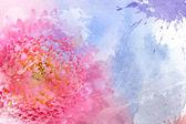 Acuarela flor rosa — Foto de Stock