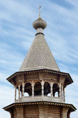 Wooden bell tower of Christ Orthodox church — Stock Photo