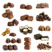 Collection de bonbons de chocolat — Photo