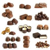 Coleção de doces de chocolate — Foto Stock