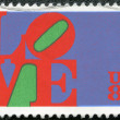 "USA - 1973: shows word ""love"", by Robert Indiana - Photo"